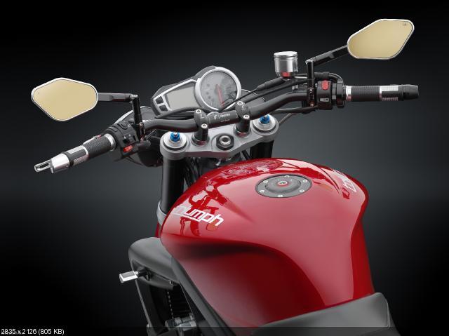 Мотоцикл  Triumph Speed Triple 2012 с аксессуарами Rizoma