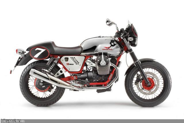 Мотоциклы Moto Guzzi V7, V7 Special и V7 Racer 2012 (характеристики, видео и фото)