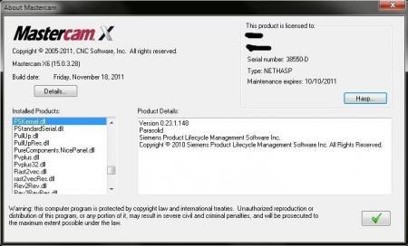 Mastercam X6 [ v.15.0.3.28, x86 + x64, 28.11.2011, ENG ]