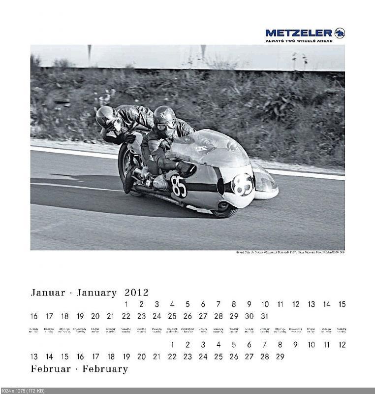 Календарь Metzeler 2012