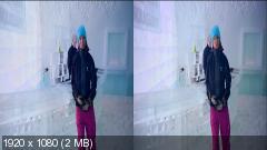 Дом из льда в 3Д / Ice House 3D   Горизонтальная анаморфная