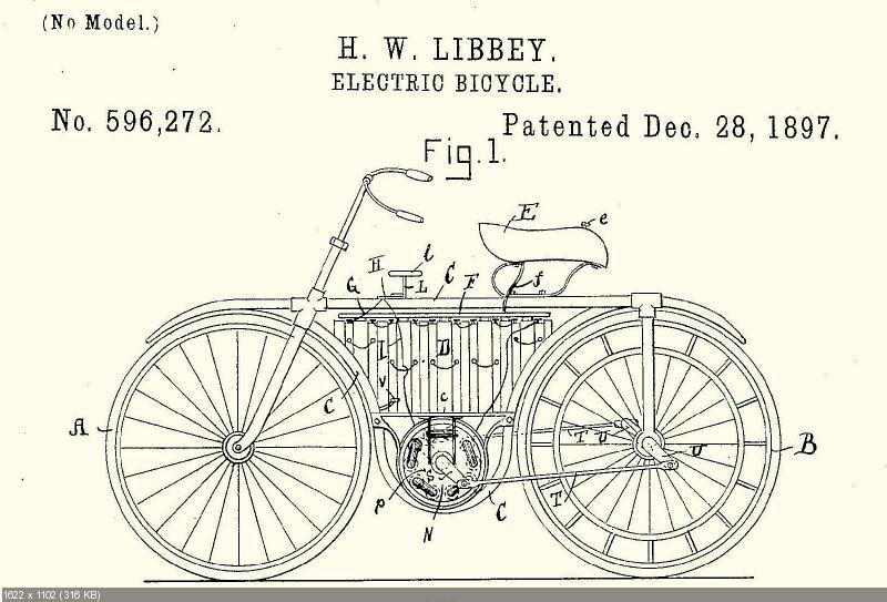 Патент электровелоцикла Либбея