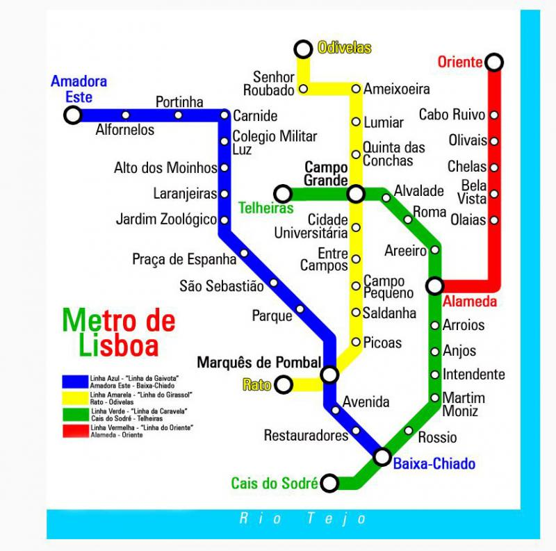 Find fastest about the Metro English system in Lisbon.  Portugal Lisbon Map - attractions City Center Street Map of...